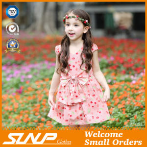 High Quality Girls Flowers Dress Sleeveless Children Clothing