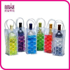 Clear PVC Ice Cooler Bag Champagne Plastic Wine Bottle Bubble Freezable Carrier
