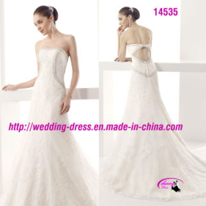 Elegant Beading Lace Sexy Dress Wedding with Open Back pictures & photos