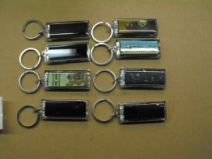 Popular Premium Item Non Battery Logo Flashing Solar Keychain pictures & photos