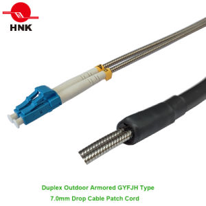 Duplex Outdoor Armored Gyfjh Type Fiber Optic Patch Cord pictures & photos