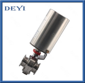 Sanitary Stainless Steel Hygienic Pneumatic Butterfly Valve with Clamp Ends pictures & photos