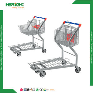 Supermarket Flat Bed Warehouse Cargo Transporting Trolley pictures & photos