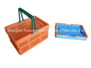 Large Size Folding Plastic Basket (FB003) pictures & photos