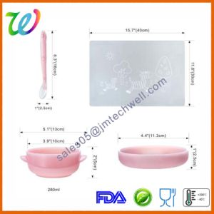 Premium Baby Toddler Food Feeding Silicone Bowl with Lid pictures & photos
