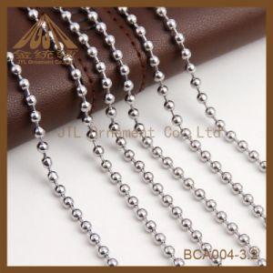 Cheap Bulk Nickel Colored Bead Ball Chains 3.2mm pictures & photos