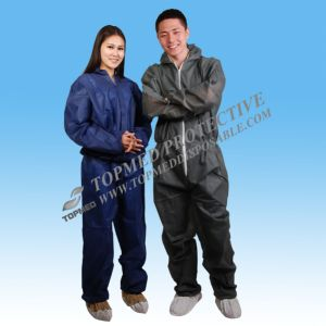 Disposable Protective Clothing, Microporous Coverall with Flap Zipper pictures & photos