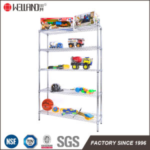2017 Customized 250kg Loading 5 Tier Metal Wire Display Toy Rack for Supermarket pictures & photos