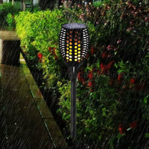 96-LED Solar Powered Dancing Flickering Flame Lamp Torch Lighting Road pictures & photos