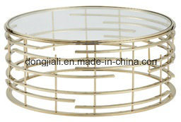 Round Stainless Steel Coffee Table with Nature Marble Top pictures & photos