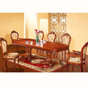 Wood Table and Sofa Chair for Dining Room Furniture Sets (8808) pictures & photos