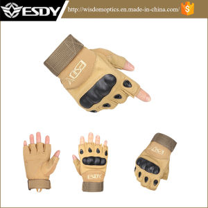 Outdoor Sports Fingerless Military Tactical Airsoft Gun Hunting Gloves Tan pictures & photos