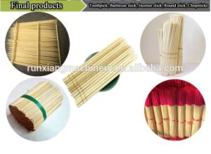 Wood Toothpick China Chopsticks Bamboo Incense Making Machine pictures & photos