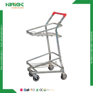 Metal Frame Cargo Trolley for Plastic Logistics Crates pictures & photos