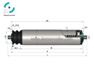 Damon Driven Steel Conveyor Roller (2260) pictures & photos