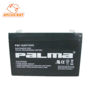 Valve Regulated Lead Acid Solar Batery 6V 7ah for Computer pictures & photos