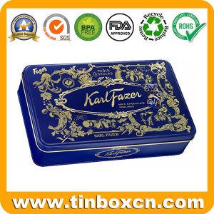 Food Grade Rectangular Tin Box for Chocolate Biscuit, Cookie Tin pictures & photos