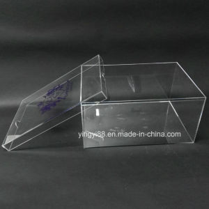 Handmade Trasparent Clear Acrylic Shoe Box with Lid pictures & photos