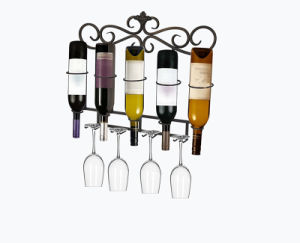 Wall Mounted Metal Decorative Wine Rack for Store Display pictures & photos
