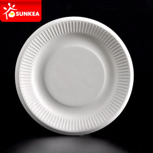 White Sugarcane Pulp / Bagasse Plate pictures & photos