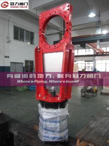 "18"" Pneumatic Slurry Knife Gate Valve pictures & photos"