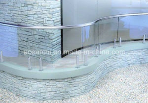 Frameless Toughened Glass Balustrade with Stainless Steel Spigot pictures & photos