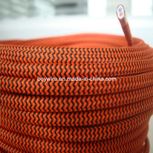 2-Core Yellow Pattern Flat Fabric Wire pictures & photos