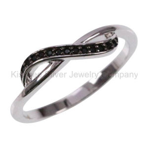 925 Silver Jewellery Inlaid Jewelry Plated Finger Ring (KR3100B) pictures & photos