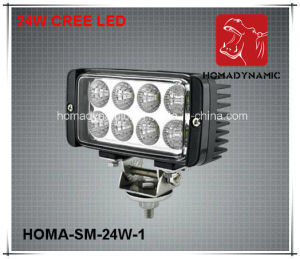 6 Inch 24W LED Work Light 6000k Super Bright LED Driving Light pictures & photos