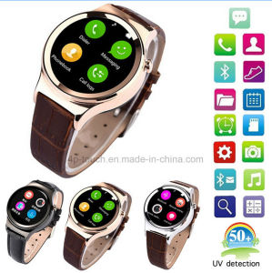 UV Detection Pedometer Smart Watch Phone Support TF/SIM Card pictures & photos