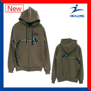 Healong Fashion Screen Printing Plain Hoodies with High Quality pictures & photos