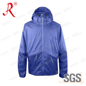 Waterproof Sport Rain Jacket Wear with Nylon Fabric (QF-765) pictures & photos