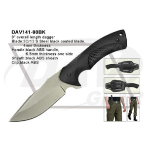 "9"" Overall Length Black Tactical Dagger with ABS Handle pictures & photos"