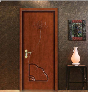 European Classic Art Simple Design Solid Wooden Door pictures & photos