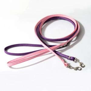 Round Colorful PU Leather Rolled Dog Walking Leashes for Small Medium Breeds pictures & photos