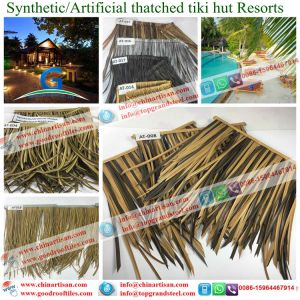 Waterproof Synthetic Thatch Artificial Thatch Palm Leaf Thatch Umbrella Made in China pictures & photos