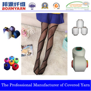 Polyester Covering Spandex Yarn for Hosiery with The Spec Acy pictures & photos