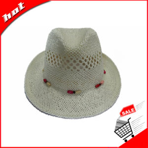 Customed Paper Straw Fedora Hat pictures & photos