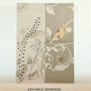 Suede Bird Wall Plaque Set with Embroidery pictures & photos