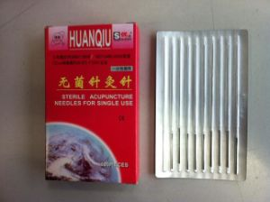 0.35X75mm Acupuncture Needle Without Tube, Silver/Copperr Handle - Huanqiu Brand pictures & photos