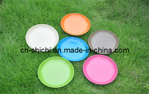 Flower/Plant Pot/Bamboo Fiber/Plant Fiber/Vase/Garden/Promotional Gifts/Home Decoration/Garden Decorations/Natural Bamboo Fiber Plates (ZC-D20036D)