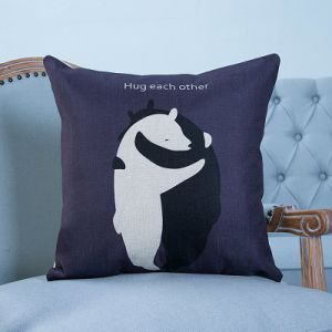 Digital Print Decorative Cushion/Pillow with Bird/Bear Pattern (MX-17) pictures & photos