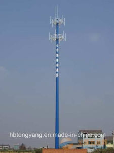Tubular Self Supporting Antenna Pole Steel Tower pictures & photos