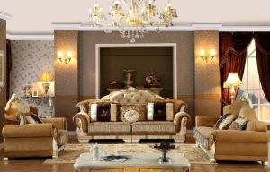 French Style Italian Leather Classic Sofa pictures & photos