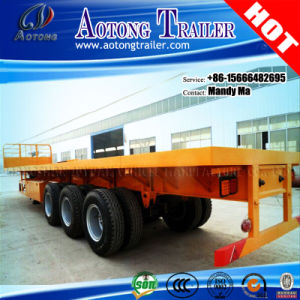 Multipurpose 3 Axles Flatbed Semi Trailer with Front Board pictures & photos