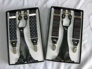 Men′s Fashion Yarn Dye Suspend Belt pictures & photos