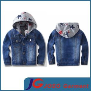 Boy′s Hoodied Denim Jacket for Fall (JT8009) pictures & photos