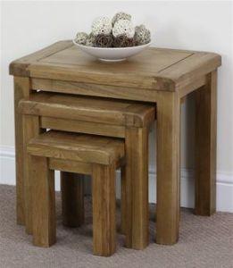 Living Room Furniture/Solid Wood Nest Table of Three (HSRU-0020)