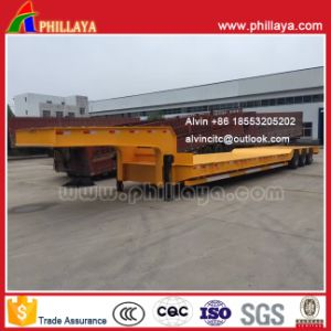 Axle-Lined 100ton Low Bed Trailer Rigid Suspension pictures & photos