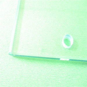 Tempered Glass Shelves/Panels with Grinding Hole for Furniture Glass pictures & photos